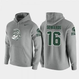 Michigan State Spartans Brandon Sowards Hoodie Men Vault Logo Club #16 Heathered Gray Pullover