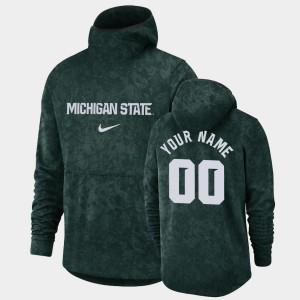 Michigan State Spartans Custom Hoodie Green Basketball Spotlight Pullover Team Logo #00 For Men