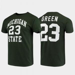 Michigan State Spartans Draymond Green T-Shirt Original Retro Brand College Alumni Basketball #23 For Men's Green College Basketball