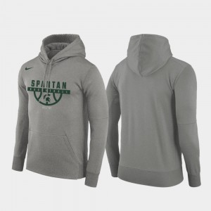 Michigan State Spartans Hoodie Men's Basketball Drop Circuit Gray Pullover