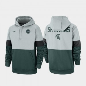 Michigan State Spartans Hoodie Rivalry Mens Gray Green Therma Performance Pullover
