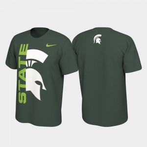 Michigan State Spartans T-Shirt Green Jersey Performance For Men Alternate