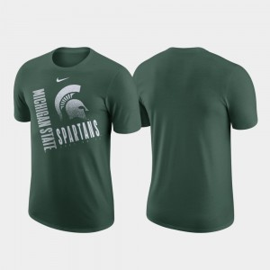 Michigan State Spartans T-Shirt Performance Cotton Green Just Do It For Men