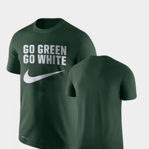 Michigan State Spartans T-Shirt For Men's Legend Franchise Green Performance