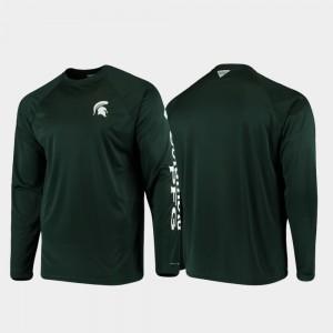 Michigan State Spartans T-Shirt Men Green PFG Terminal Tackle Long Sleeve Omni-Shade