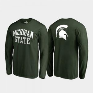 Michigan State Spartans T-Shirt Primetime Hunter Green Long Sleeve Men