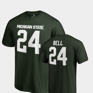 Michigan State Spartans Le'Veon Bell T-Shirt College Legends #24 For Men's Green Name & Number