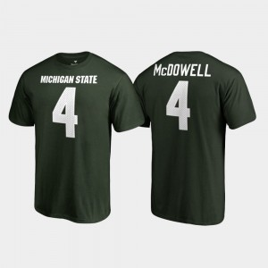 Michigan State Spartans Malik McDowell T-Shirt Mens Name & Number Green #4 College Legends