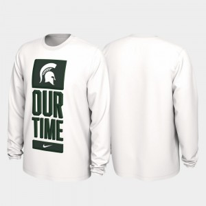 Michigan State Spartans T-Shirt 2020 March Madness Our Time Bench Legend Men White
