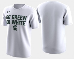 Michigan State Spartans T-Shirt Basketball Tournament White 2018 March Madness Bench Legend Performance Mens