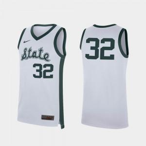 Michigan State Spartans Jersey Replica White #32 Men Retro College Basketball