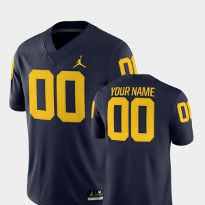 Michigan Wolverines Customized Jerseys For Men's #00 Navy College Football 2018 Game