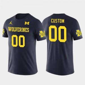 Michigan Wolverines Customized T-Shirt #00 Future Stars Cotton Football Men's Navy