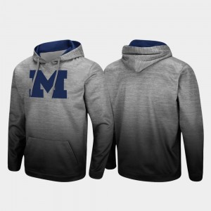 Michigan Wolverines Hoodie For Men Pullover Sitwell Sublimated Heathered Gray