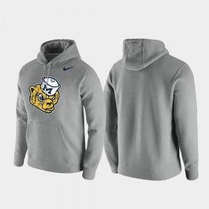 Michigan Wolverines Hoodie Vintage Logo For Men's Club Fleece Heathered Gray