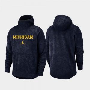 Michigan Wolverines Hoodie For Men's Spotlight Basketball Team Logo Pullover Navy