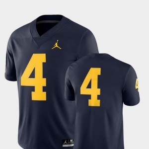 Michigan Wolverines Jersey For Men's 2018 Game College Football Navy #4