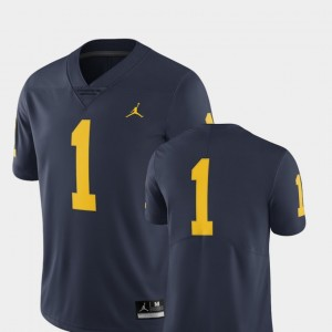 Michigan Wolverines Jersey Limited Men #1 Navy College Football