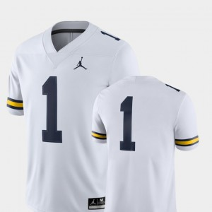Michigan Wolverines Jersey College Football 2018 Game White #1 For Men