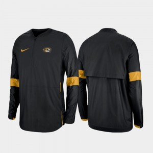 Missouri Tigers Jacket 2019 Coaches Sideline For Men's Black Quarter-Zip