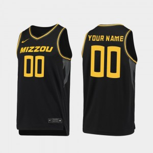 Missouri Tigers Customized Jersey 2019-20 College Basketball Black #00 Mens Replica