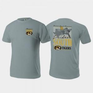 Missouri Tigers T-Shirt Comfort Colors Men's Pride of the South Gray