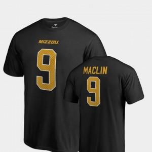 Missouri Tigers Jeremy Maclin T-Shirt For Men's Name & Number Black College Legends #9