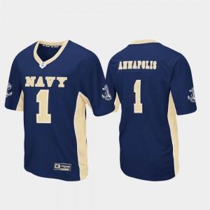 Navy Midshipmen Jersey Navy Football #1 Mens Max Power