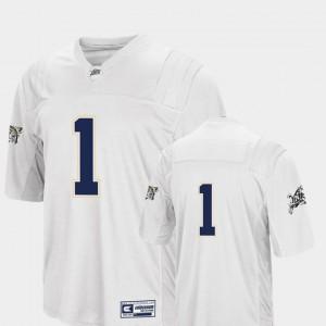 Navy Midshipmen Jersey White #1 Colosseum Authentic College Football Men's