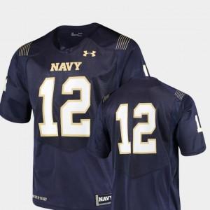 Navy Midshipmen Jersey College Football #12 Team Replica Men Navy