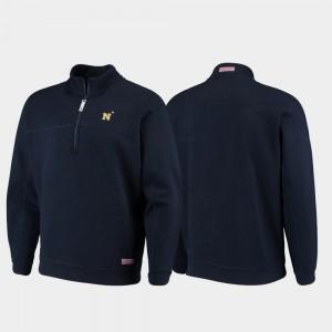 Navy Midshipmen Jacket Navy Shep Shirt Men Quarter-Zip