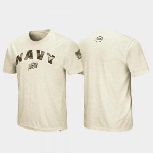 Navy Midshipmen T-Shirt For Men OHT Military Appreciation Desert Camo Oatmeal
