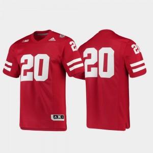 Nebraska Cornhuskers Jersey Premier #20 Scarlet Football For Men