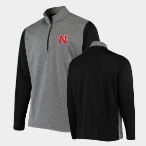 Nebraska Cornhuskers Jacket College UPF Quarter-Zip For Men Anthracite