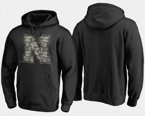 Nebraska Cornhuskers Hoodie Black Mens Camo Cloak Big & Tall