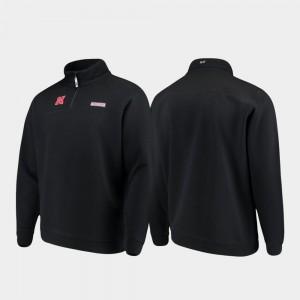 Nebraska Cornhuskers Jacket Shep Shirt Black Quarter-Zip For Men
