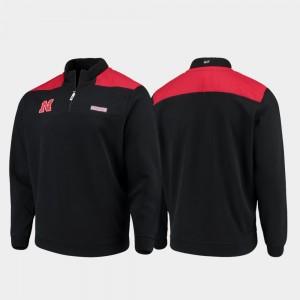 Nebraska Cornhuskers Jacket Black Quarter-Zip Pullover Shep Shirt For Men's