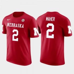 Nebraska Cornhuskers Brett Maher T-Shirt Dallas Cowboys Football Future Stars For Men #2 Red