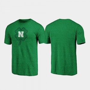 Nebraska Cornhuskers T-Shirt Celtic Charm Tri-Blend St. Patrick's Day Men's Green