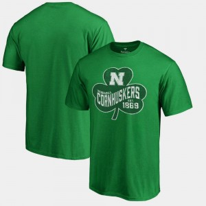 Nebraska Cornhuskers T-Shirt Paddy's Pride Big & Tall Kelly Green St. Patrick's Day For Men's