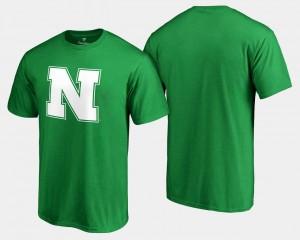Nebraska Cornhuskers T-Shirt White Logo Big & Tall St. Patrick's Day For Men Kelly Green
