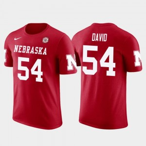 Nebraska Cornhuskers Lavonte David T-Shirt Red Mens Tampa Bay Buccaneers Football #54 Future Stars