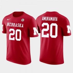 Nebraska Cornhuskers Prince Amukamara T-Shirt Future Stars #20 Chicago Bears Football Men Red