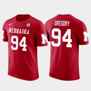 Nebraska Cornhuskers Randy Gregory T-Shirt Future Stars Dallas Cowboys Football Red Men #94