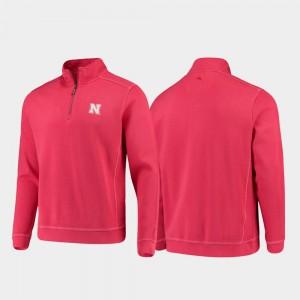 Nebraska Cornhuskers Jacket Half-Zip Pullover Tommy Bahama Scarlet College Sport Nassau Men