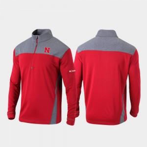 Nebraska Cornhuskers Jacket Scarlet Omni-Wick Standard Men's Quarter-Zip Pullover