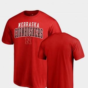Nebraska Cornhuskers T-Shirt Square Up Men's Scarlet