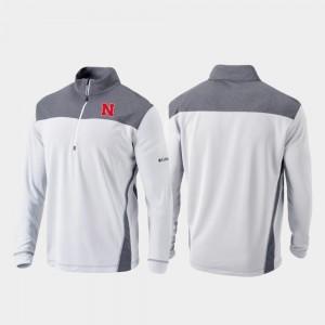 Nebraska Cornhuskers Jacket Omni-Wick Standard Quarter-Zip Pullover Men's White