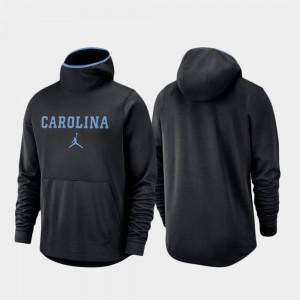 North Carolina Tar Heels Hoodie Basketball Team Logo Pullover Spotlight Black Men
