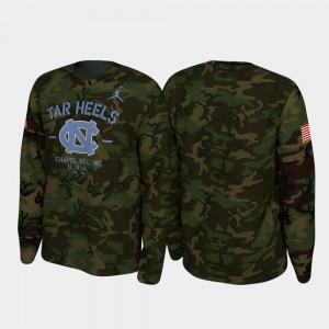 North Carolina Tar Heels T-Shirt Camo Men Legend Long Sleeve 2019 Veterans Day